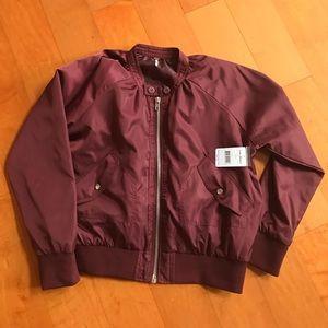 Jackets & Blazers - Free People Burgundy Bomber Jacket